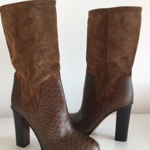 Vince Dalton Suede and Leather Boots